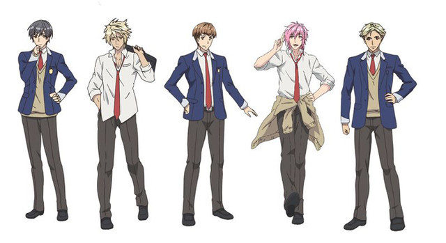 Character settings for the 5 main characters of Try Knights, an original TV anime about a high school rugby team.