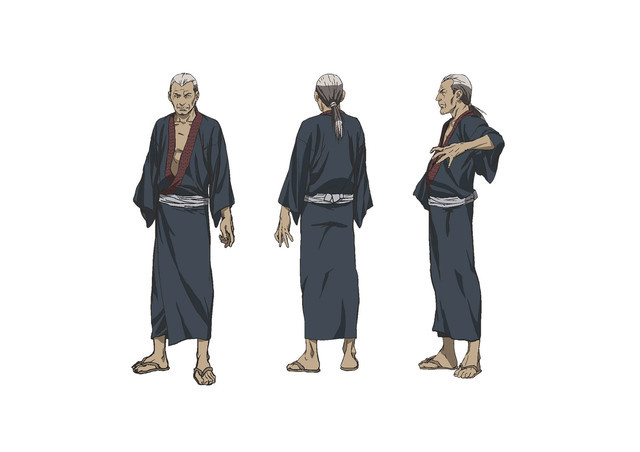 Abayama Sosuke, a middle aged sword master who is missing his right arm.
