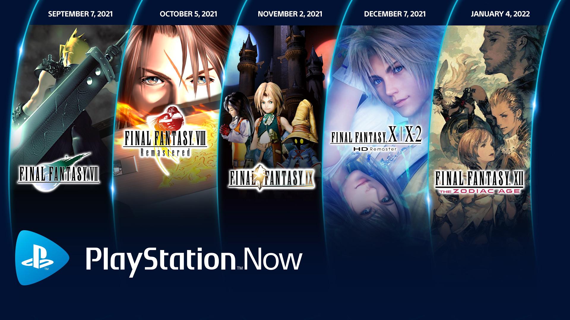 Juegos de Final Fantasy en PlayStation Now