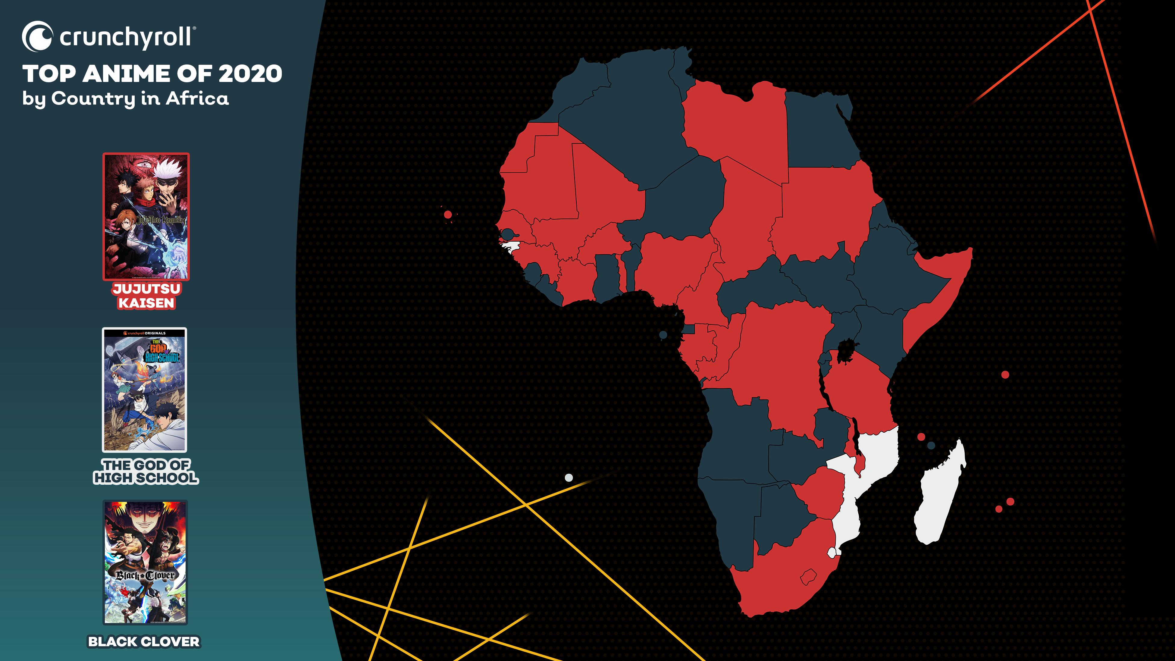 Mejor anime de 2020 por país: África