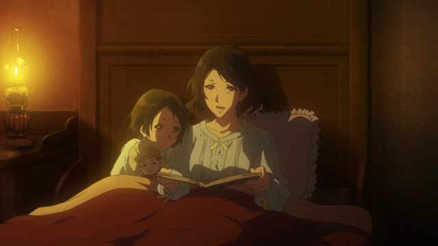 Anne and her mother, Violet Evergarden