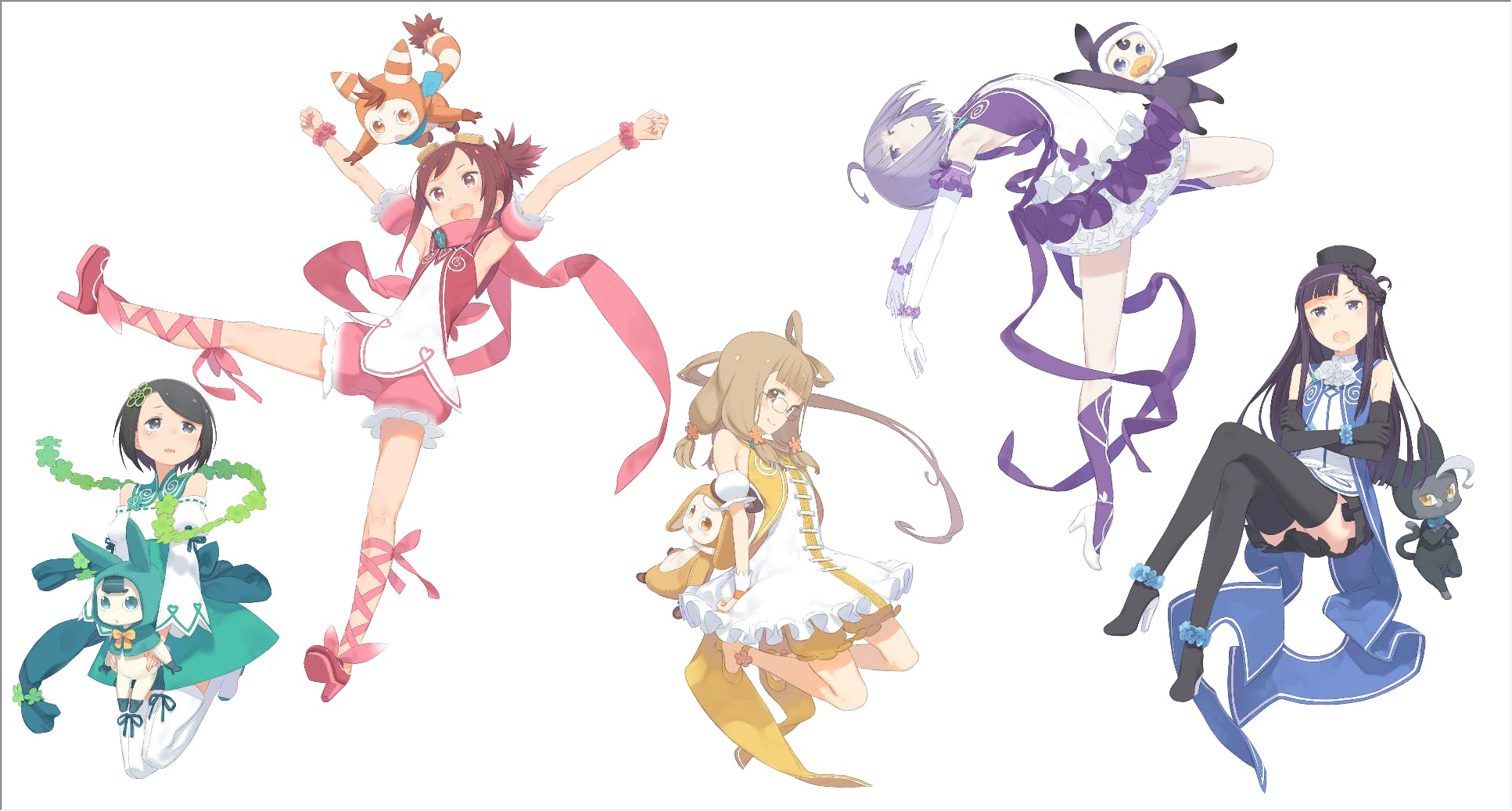 Pop in Q Character designs