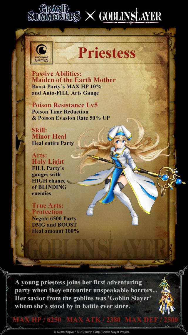 Goblin Slayer Priestess