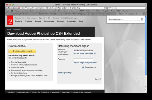 photoshop cs4 free trial