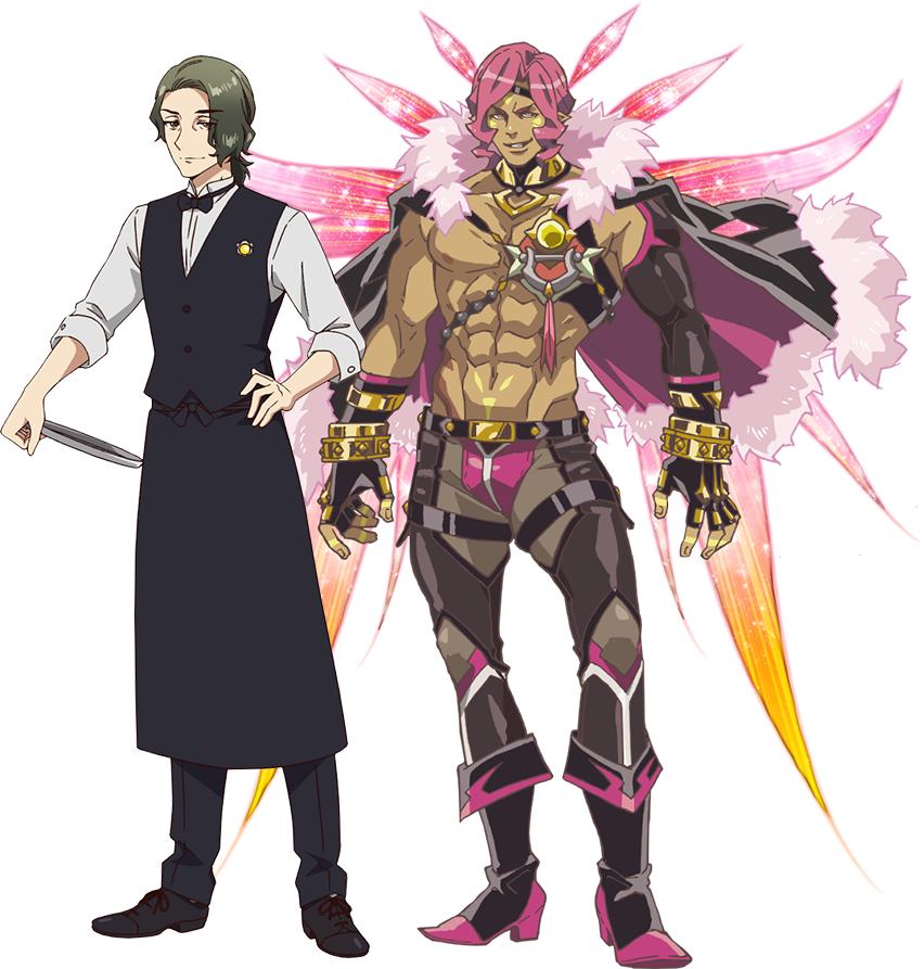 "Un escenario de personajes de Takaro Utashiro y su ultra-aficionado ""Yousei"" forma del próximo anime de televisión Fairy Ranmaru ~ Anata no Kokoro Otasuke Shimasu ~."