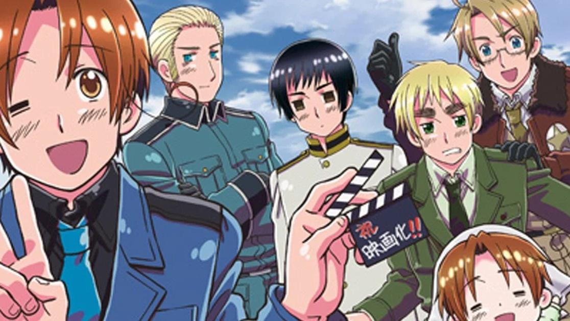 El elenco de Hetalia, la exitosa serie de Hidekaz Himaruya