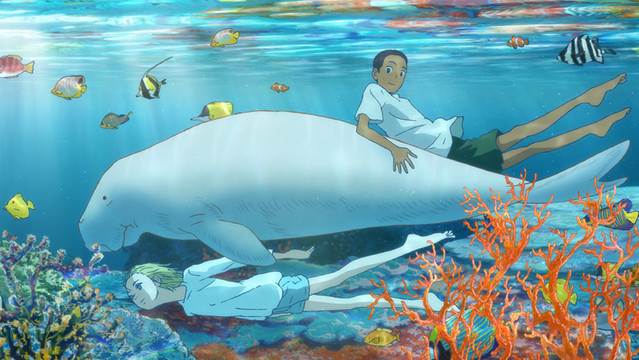 A promotional image from the 2019 anime theatrical film, Children of the Sea.