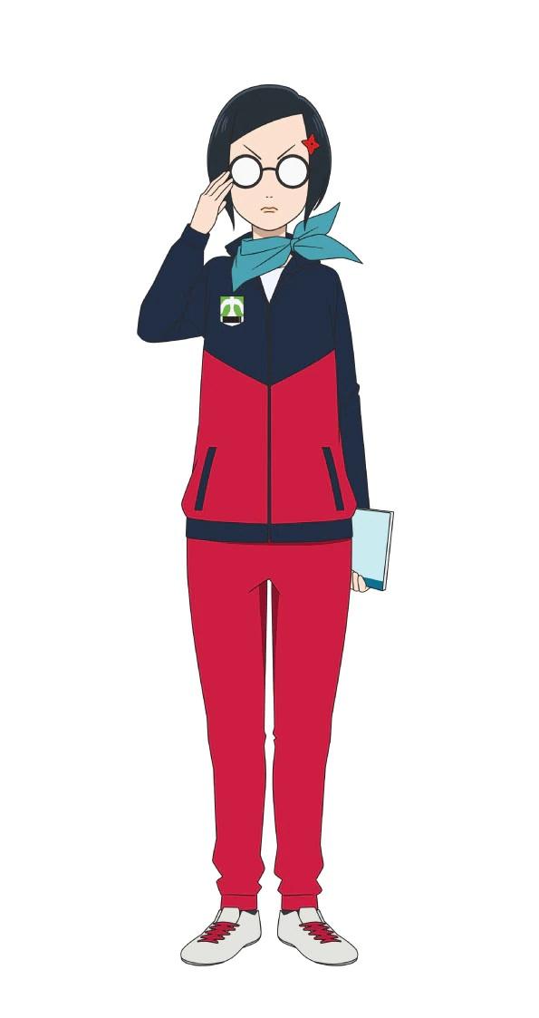 Un escenario de personajes de Kei Hayabusa, miembro del club de fútbol femenino de la escuela secundaria Urarawa Kuninari.