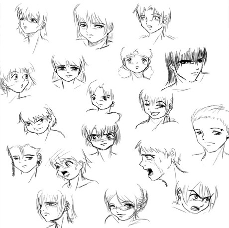 Once you learn what features to change to achieve the look you want you should be able to draw any anime face expression you want