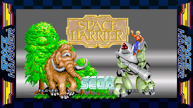 Space Harrier title screen