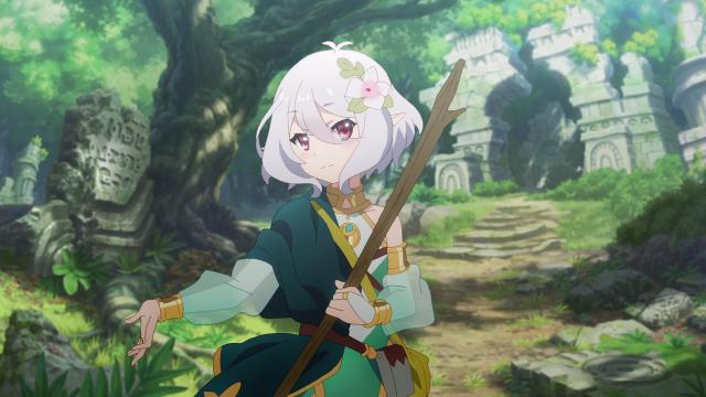 Kokkoro sonriendo en el bosque - ¡Princess Connect!  Re: buceo