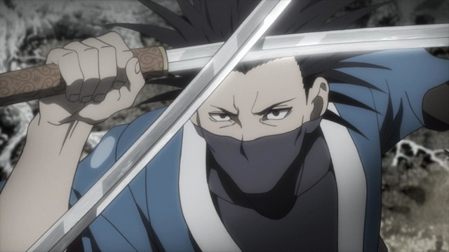 Sword master Taito Magatsu parries an opponents strike in a scene from the upcoming Blade of the Immortal TV anime.