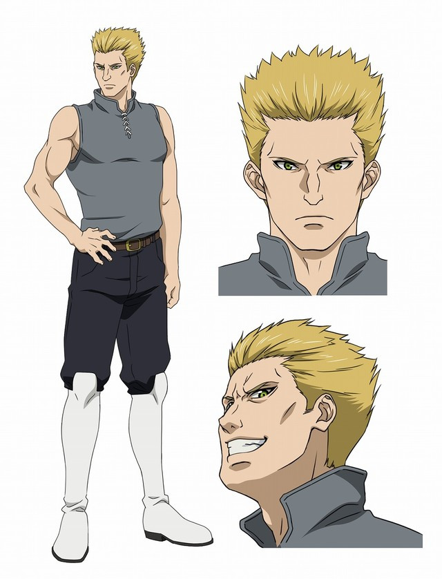 In human form, Christopher, an Incarnate Soldier, has spiky blonde hair and a sadistic expression on his face.
