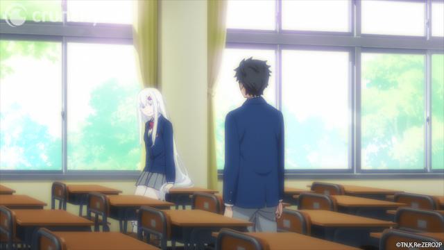 Subaru and Echidna in the classroom