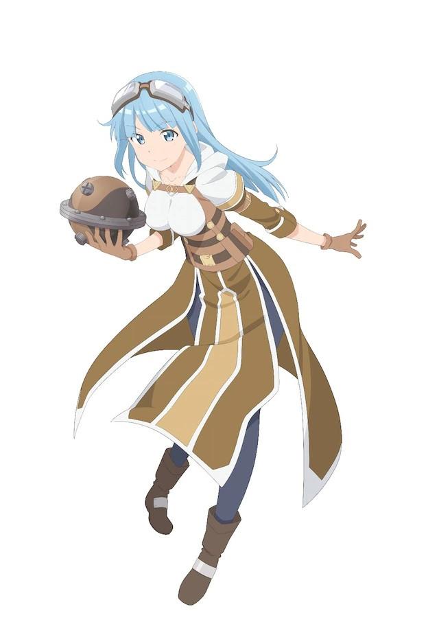 A character visual of Izu, a player who specializes in manufacturing items from the upcoming Itai no wa Iya nanode Bougyoryoku ni Kyokufuri Shitai to Omoimasu. TV anime.