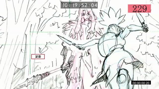 Пример набросков ключевой анимации из документального фильма