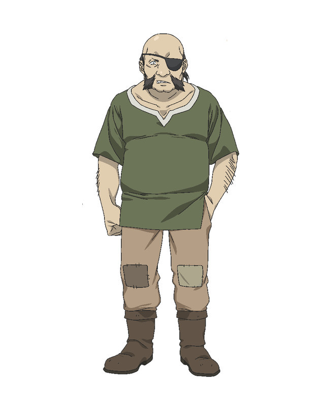 Edgar, a bald human being with an eye patch and a scruffy muttonchops beard in Rise Up! Animal Road.