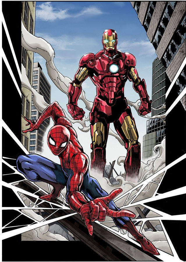 Image result for spider man iron man kazuki