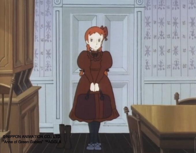 Traje rojo con mangas abullonadas de Anne of Green Gables