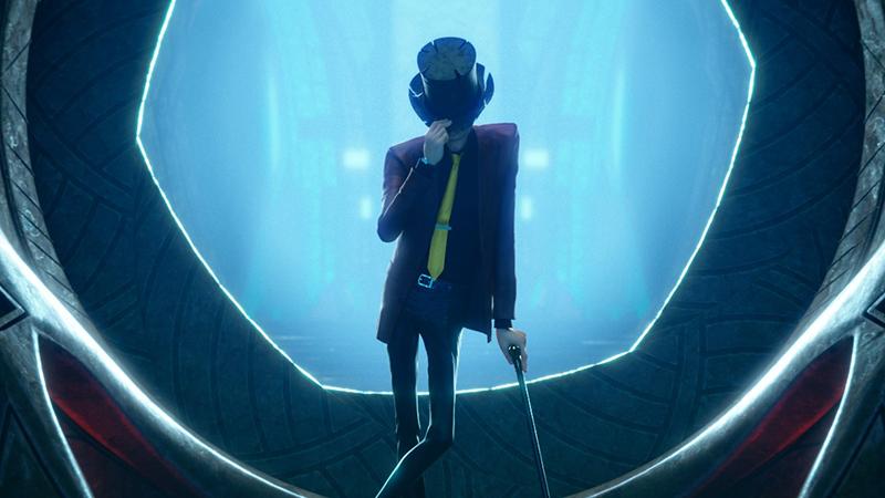 Lupin el tercero con el sombrero y el bastón de su abuelo