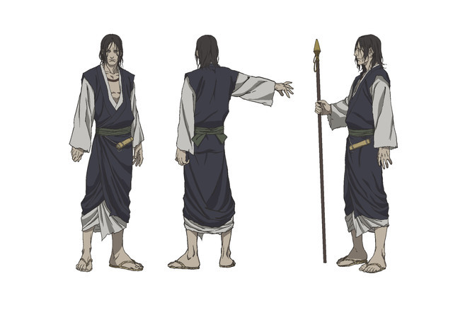 Shizuma Eiku, an immortal swordsman dressed in the clothing of a wandering monk.