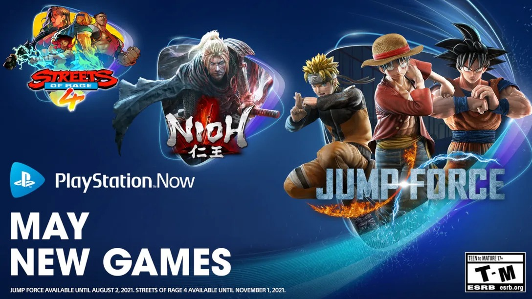 PlayStation Now May 4, 2021 Update