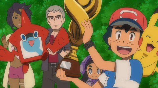 Pokémon Sun and Moon - Ash winning the cup