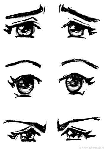 Sad anime eyebrows