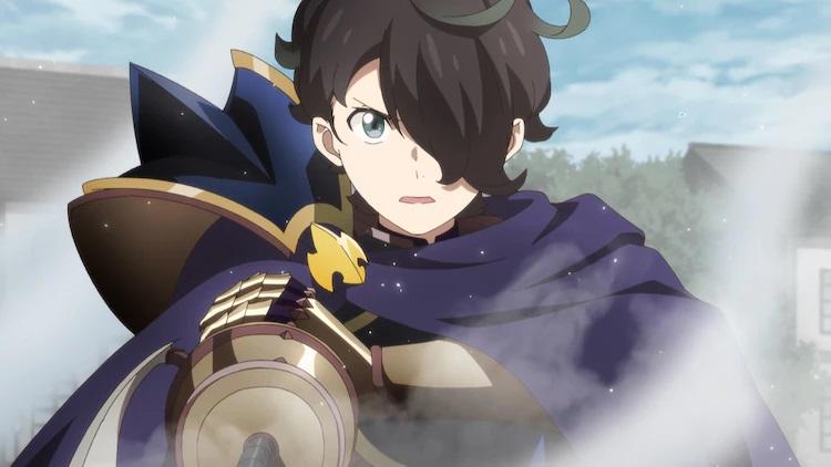 Nemo canaliza el poder de un héroe desconocido para enfrentarse a las fuerzas de la Destrucción en una escena del próximo anime de televisión SEVEN HEROES REVOLUTION: Hero Successor.