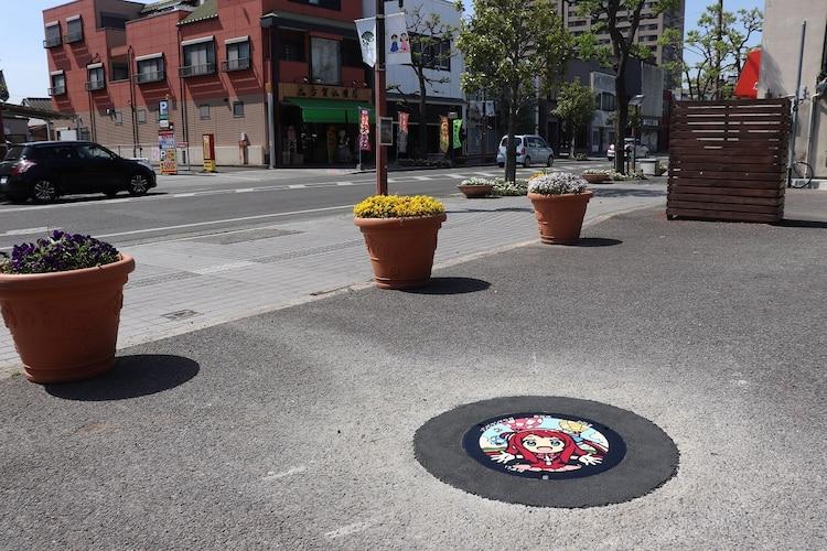Sakura manhole cover