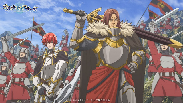 The knights of Camellia rise up in armed rebellion against their patron nation in a scene from the Hortensia SAGA TV anime.
