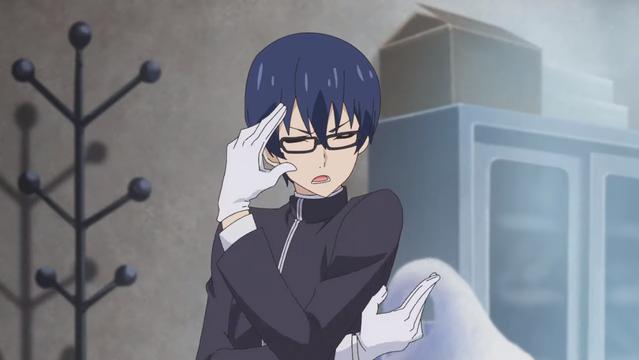 Kazuhiro Nakamura strikes an overly dramatic pose in the Chubyou-Gekihatsu Boy TV anime.