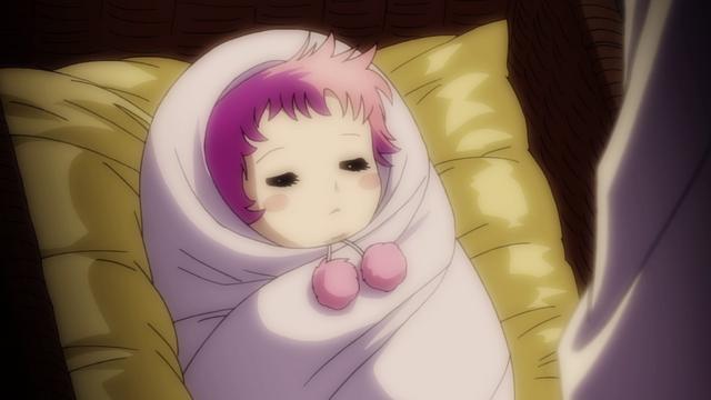 atena bebê dormindo saint seiya