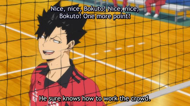 Kuroo's remarks on Bokuto