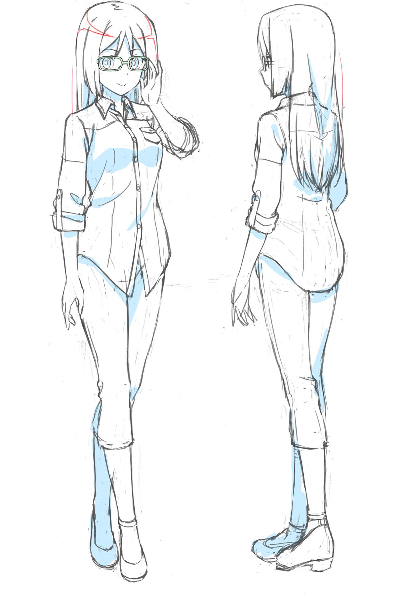 Un escenario de personajes de Fumika Momoshina, uno de los personajes principales del próximo Alice Gear Aegis OAV.