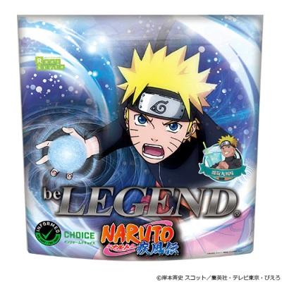 Una imagen promocional del producto de proteína de suero en polvo Be Legend Naruto Shippuden de Real Style Corporation.