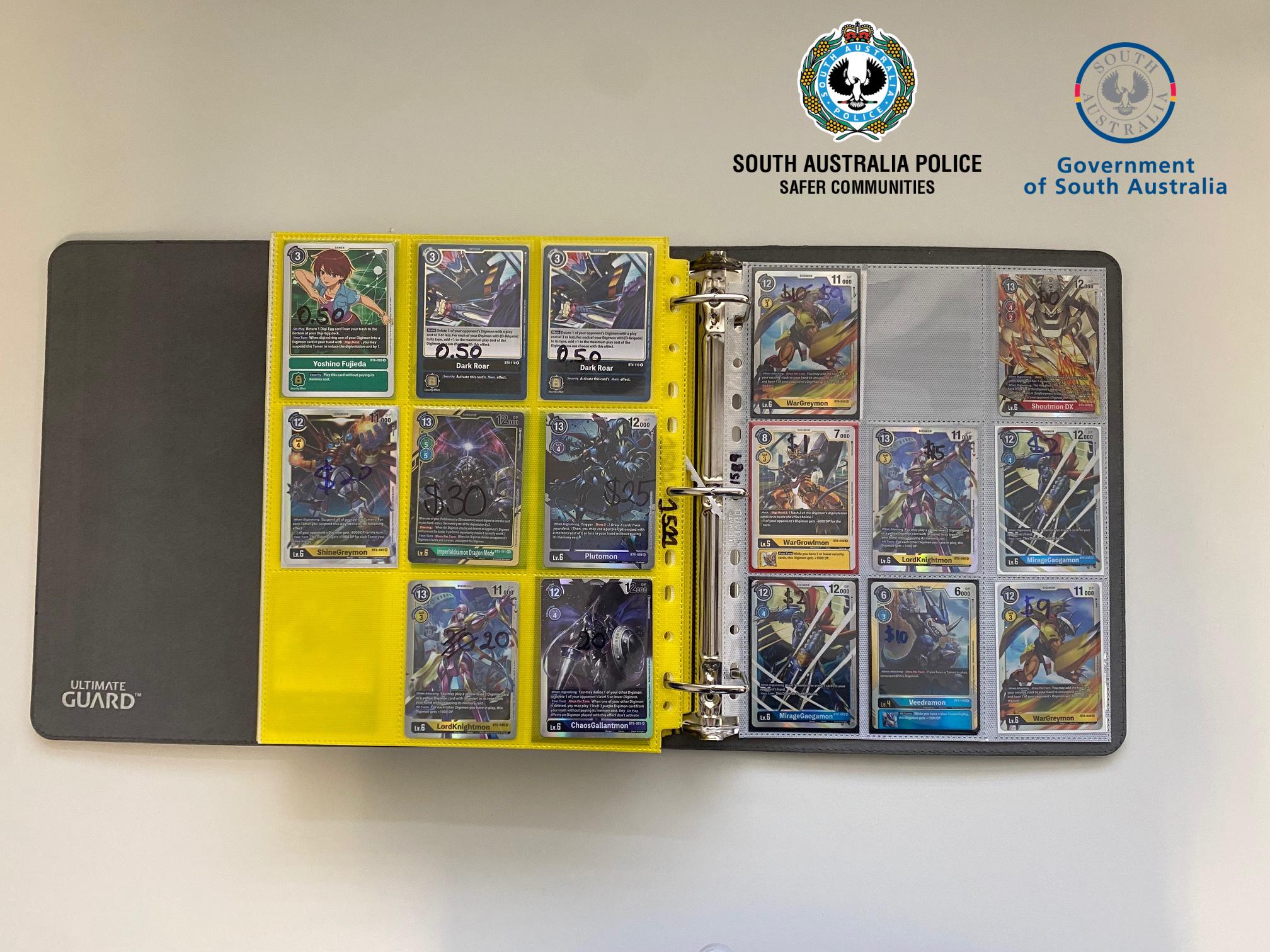 Tarjetas de Digimon robadas