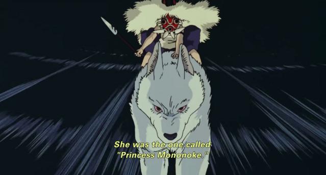 San charges in Princess Mononoke