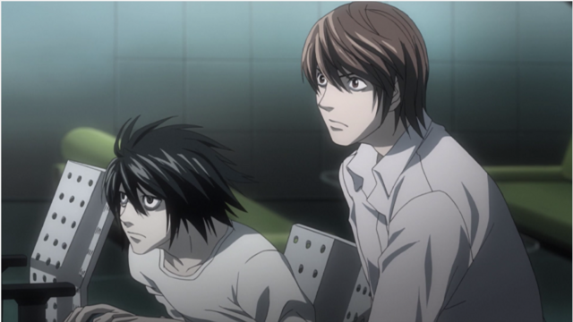 Light and L from Death Note