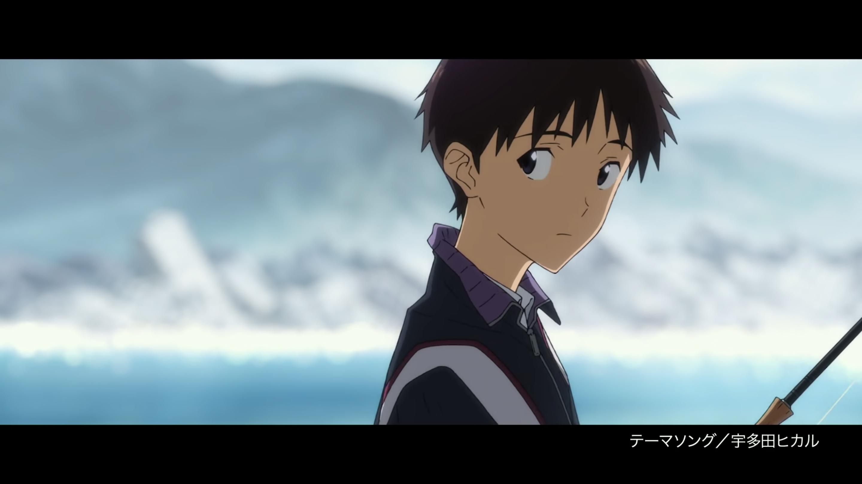 Shinji fishing for his Unit 01 crayfish in Evangelion 3.0+1.0