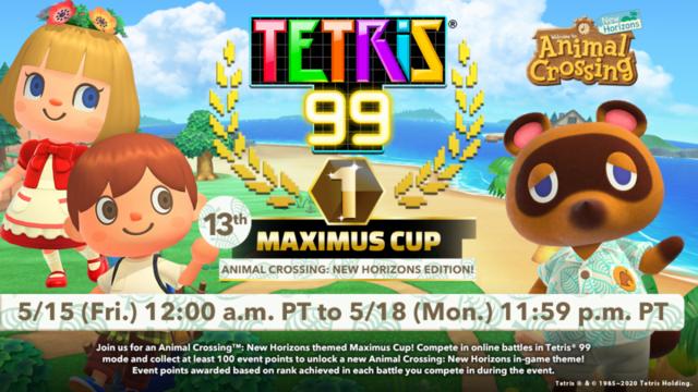 Animal Crossing: New Horizons x Tetris 99