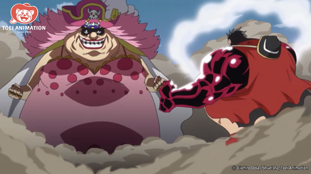 Big Mom enfrentándose a Gear Four Luffy, One Piece