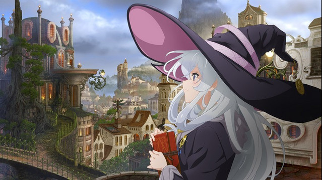Elaina, a wandering witch, tours a majestic city in a new key visual for the upcoming The Journey of Elaina TV anime.
