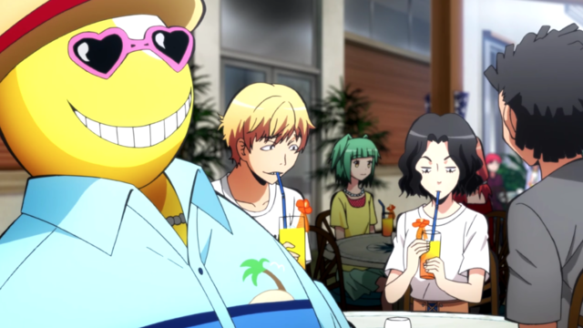 Assassination Classroom Episode 17 Beach