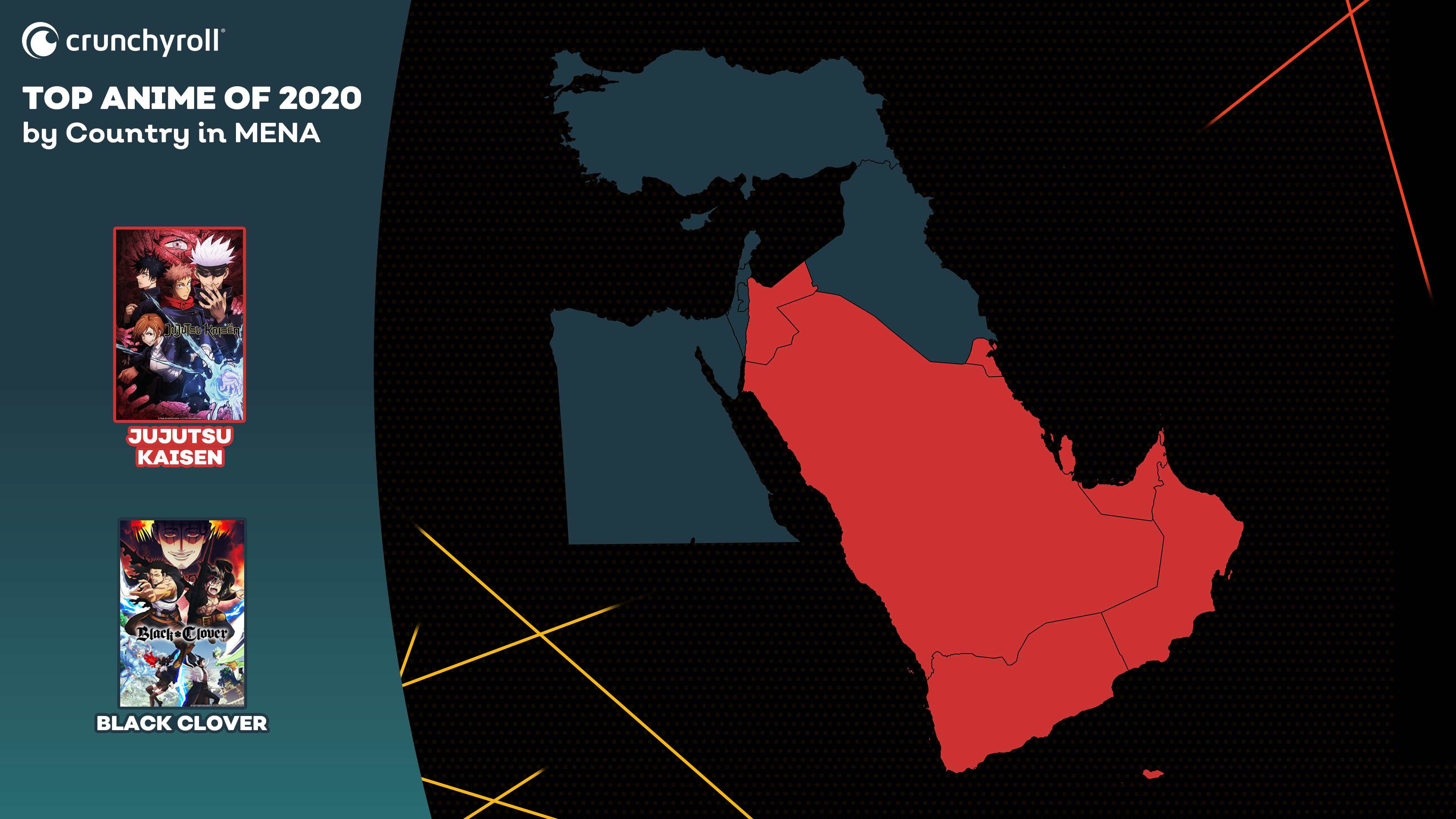 Mejor anime de 2020 por país - Medio Oriente