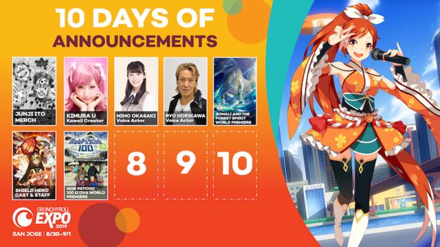 Crunchyroll Expo 2019: 10 Days of Announcements