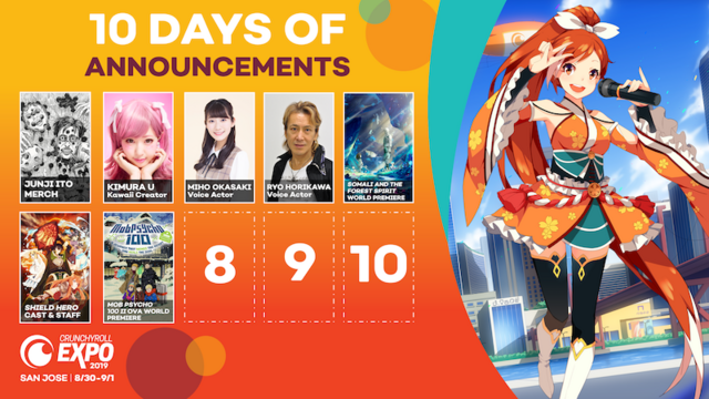 Crunchyroll Expo 2019: 10 Days of Announcements