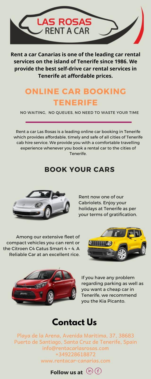 Online car booking Tenerife