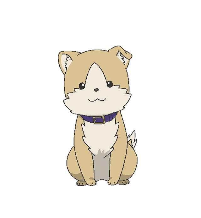 Hiroyuki, a tiny mixed breed dog and Genzo's animal companion in Rise Up! Animal Road.