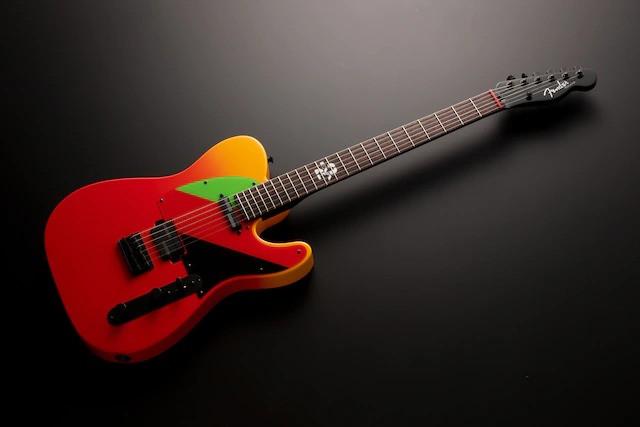 Asuka Evangelion guitar